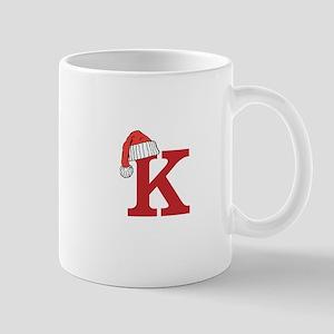 Letter K Christmas Monogram Mugs
