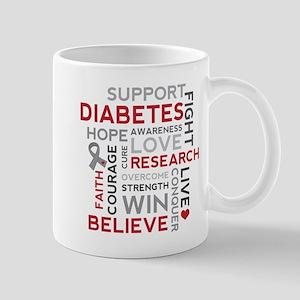 Support Diabetes Research Awareness Mugs