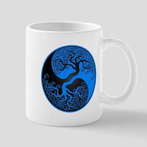Blue and Black Yin Yang Tree Mugs