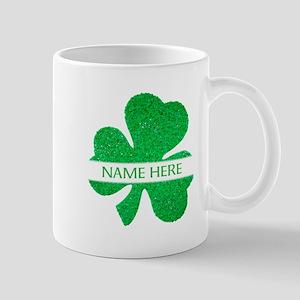Custom Name Shamrock Mugs