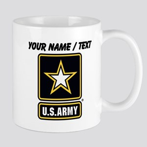 Custom U.S. Army Gold Star Logo Mugs