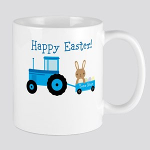 Cute Tractor Bunny Mugs