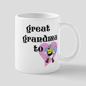 Heart Great Grandma To Bee Mugs