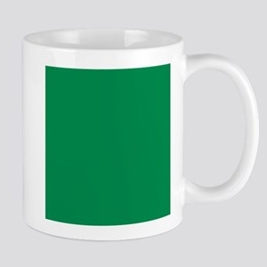 Green solid color Mugs