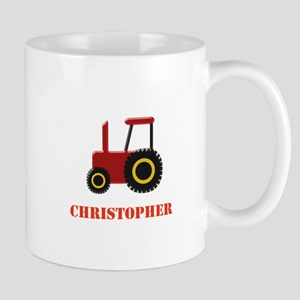 Personalised Red Tractor Mugs
