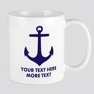 Nautical boat anchor Mugs