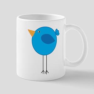 Blue Bird Cartoon Mugs
