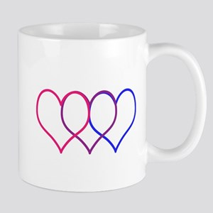 Bisexual Hearts Mugs