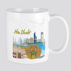 Abu Dhabi in the United Arab Emirates Mugs