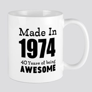 Custom Birthday Made in year and age Mugs