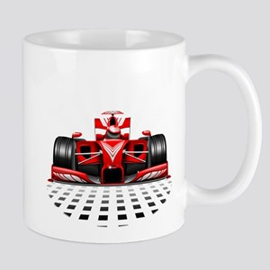 Formula 1 Red Race Car Mugs