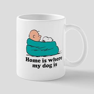 Charlie Brown: Home is Where My Dog Is Mug