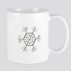Silver and Gold Snowflake Mug