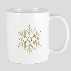Gold and Silver Snowflake Mug