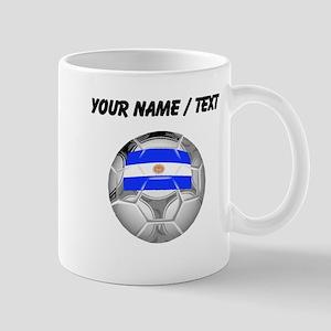 Custom Argentina Soccer Ball Mugs