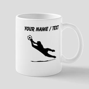 Custom Soccer Goalie Silhouette Mugs