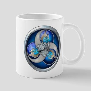 Blue Norse Triple Dragons Mug
