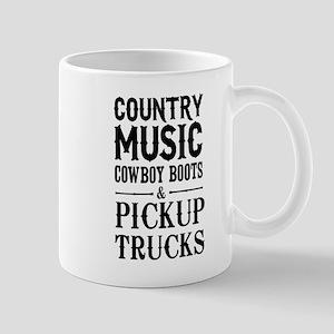 Country Music, Cowboy Boots & Pickup Trucks Mugs