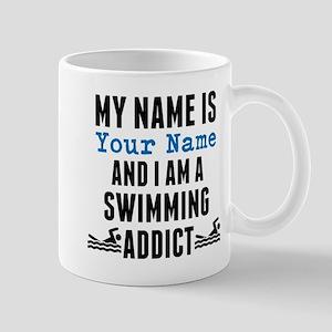 Swimming Addict Mugs