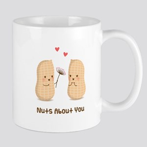 Cute Peanuts Nuts About You Love Humor Mugs