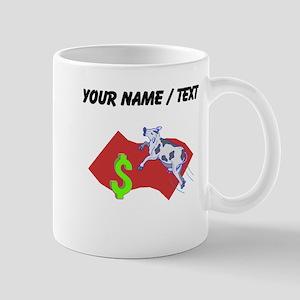 Cow Jumping Over Money (Custom) Mugs