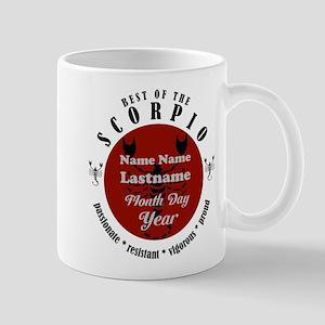 Custom Text Scorpio Horoscope Zodiac Sign Mugs