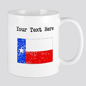 Texas State Flag (Distressed) Mugs