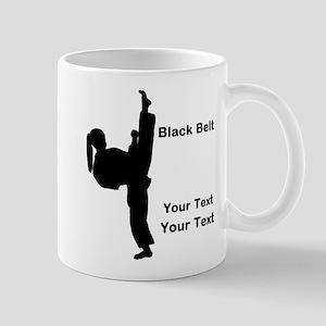 Black Belt Kick 11 oz Ceramic Mug