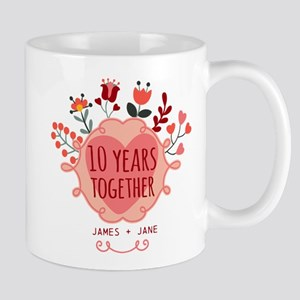 Personalized 10th Anniversary Mug