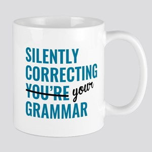 Silently Correcting You're Grammar Mugs