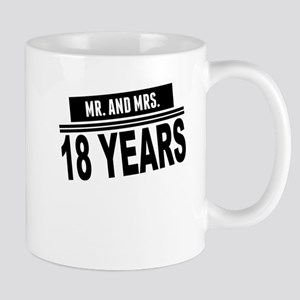 Mr. And Mrs. 18 Years Mugs