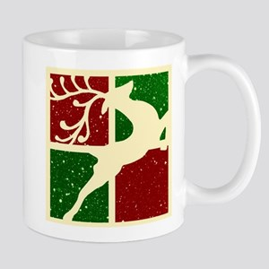 Pop art Christmas deer Mugs