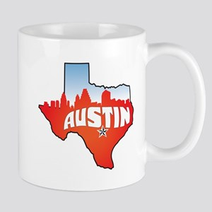 autinTXcityscape Mugs