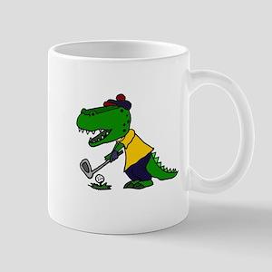 Alligator Playing Golf Mugs