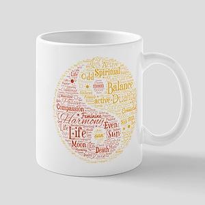 Yin Yang Spiritual Word Art Mug