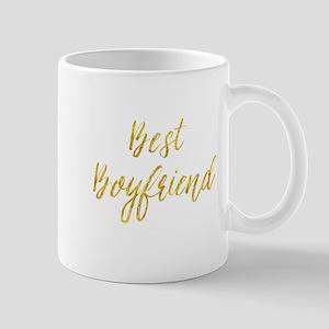 Best Boyfriend Gold Faux Foil Metallic Glitte Mugs