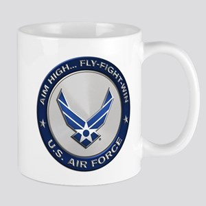 USAF Motto Aim High Mugs