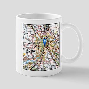 Map of Rome Italy Mugs
