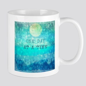 One Day At A Time quote Mugs