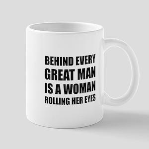 Woman Rolling Eyes Mugs