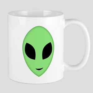 Friendly Alien Head Mugs