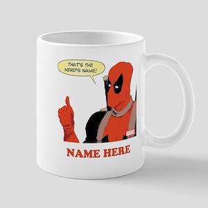 Deadpool Nerds Name Personalized Mug