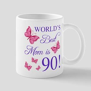 90th Birthday For Mom Mugs