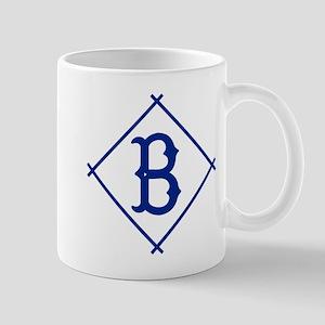 Vintage Brooklyn Dodgers B Diamond design Mugs