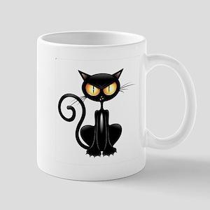 Amusing black cat Mugs