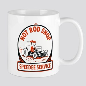 Hot Rod Shop Cartoon Mugs