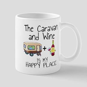 Caravan and Wine is My Happy Place Mugs