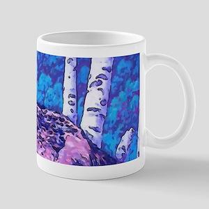Blue Wolf Wolves & Pup 11 oz Ceramic Mug