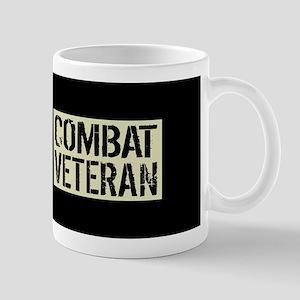 Combat Veteran: Black Military U 11 oz Ceramic Mug