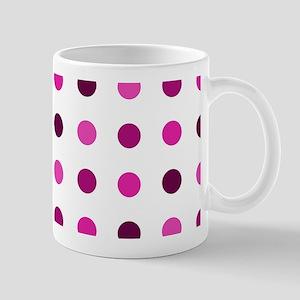 Pink & Purple, Tricolor: Polka Dots Pat Mug